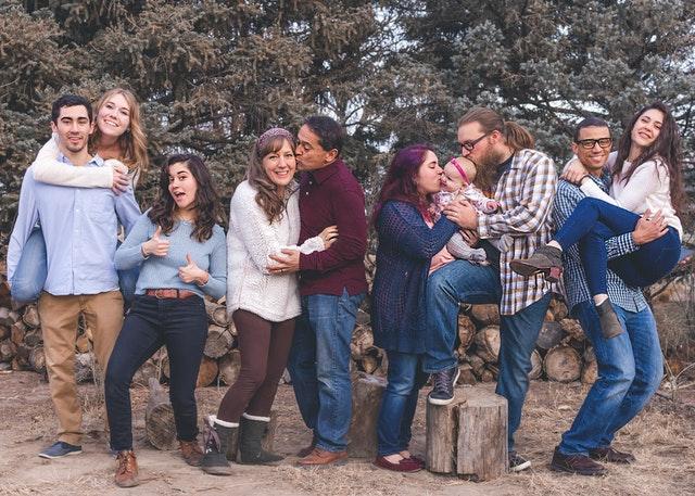 loving family at Christmas