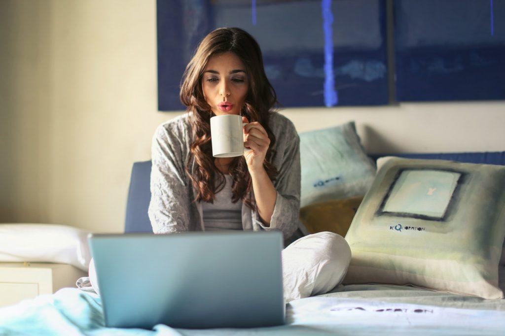 woman auditing finances