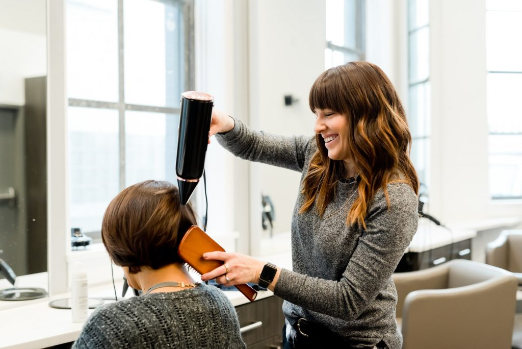 woman at hairdresser or salon
