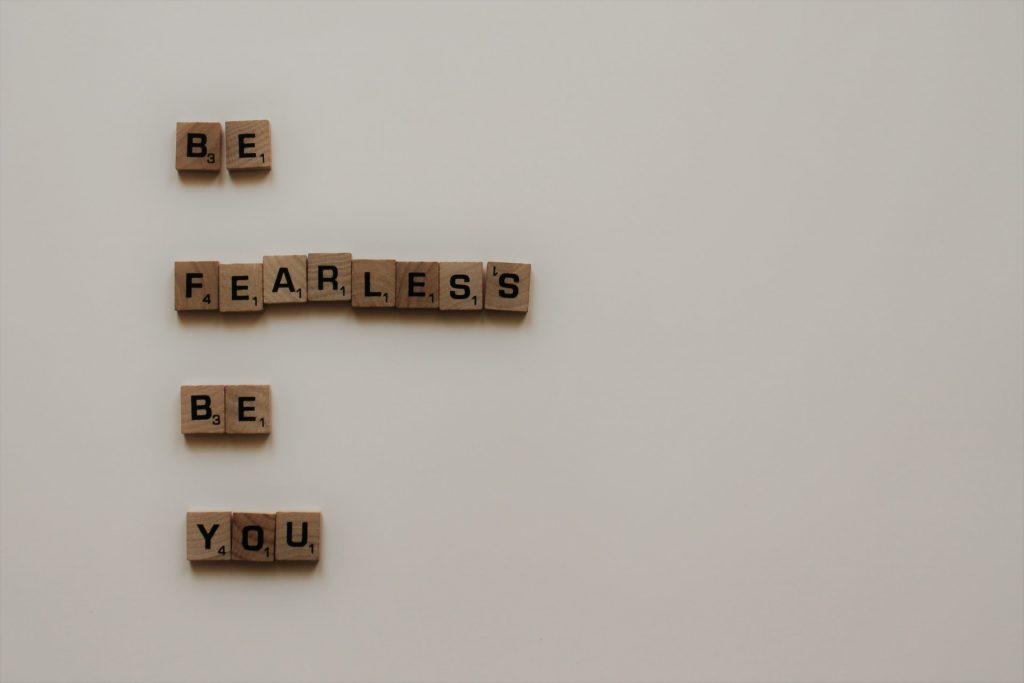 be fearless be you letters