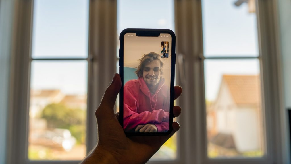 video call on mobile phone