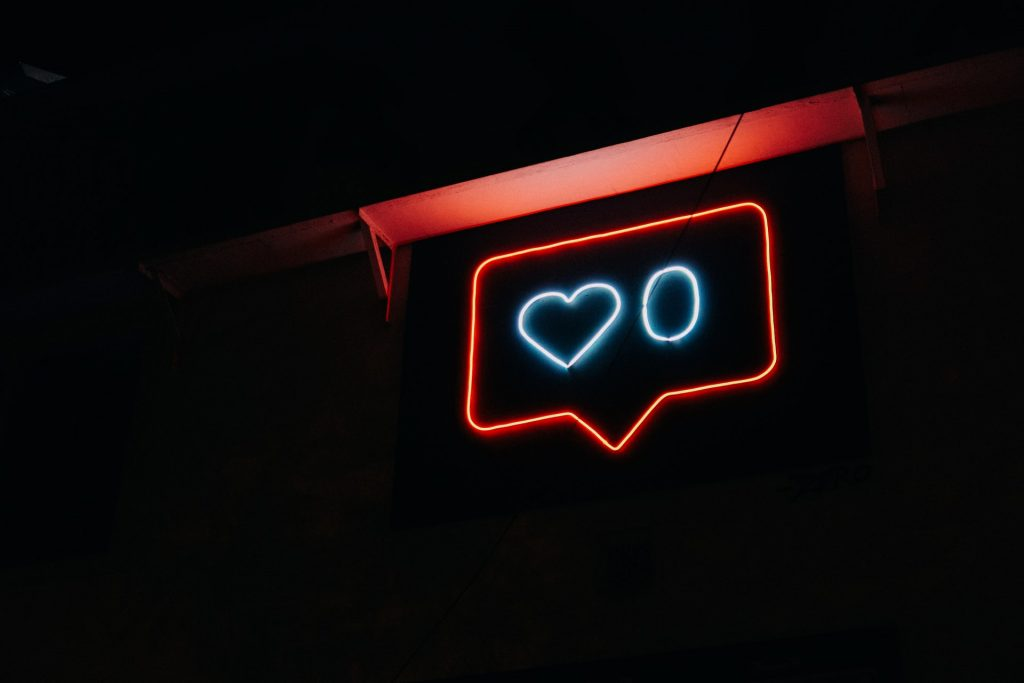 no likes neon sign