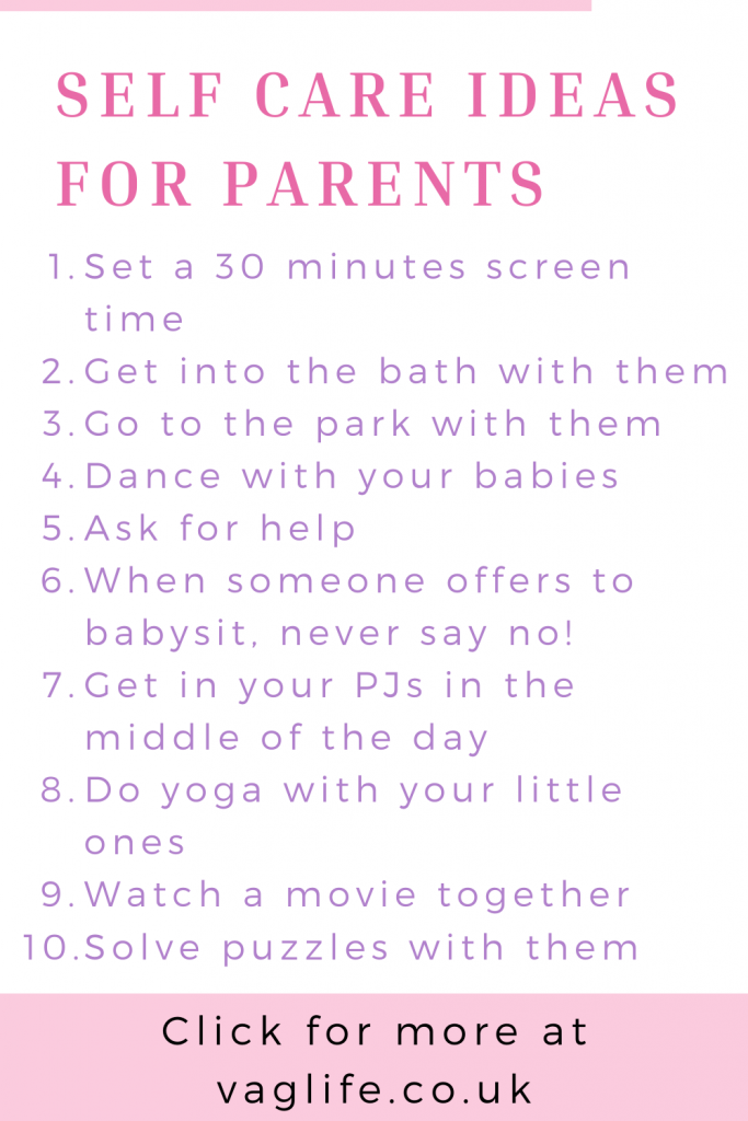 self care ideas for parents pin