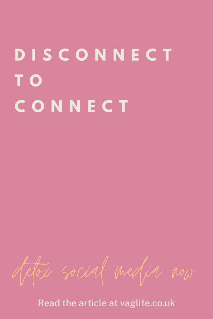 social media detox quote - disconnect to reconnect