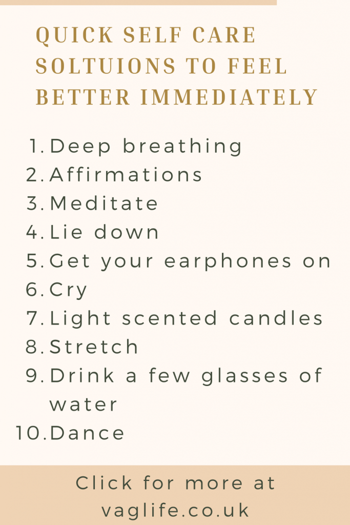 pin for self care solutions to feel better