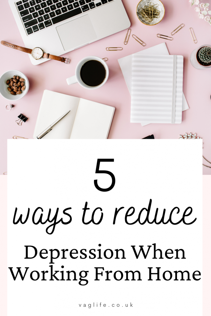 reduce depression when working from home pin